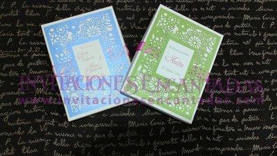 Invitación Bautizo 021 Caja con figura de MDF