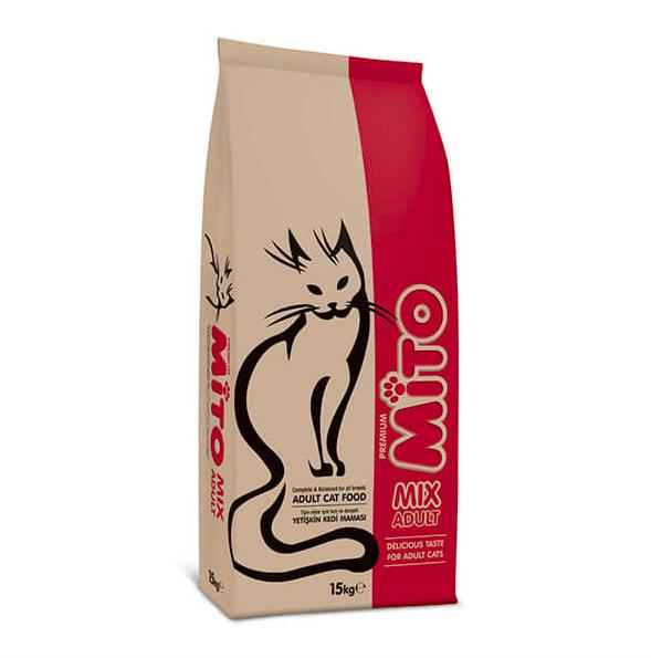 Mito Mix Adult Cat Tavuklu ve Renkli Taneli Yetişkin Kedi Maması 0021