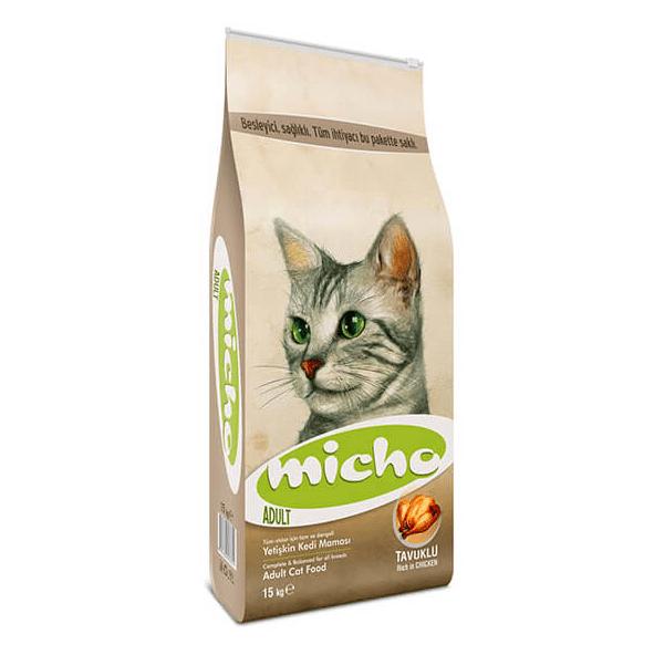 Micho Adult Cat Tavuklu (Hamsi ve Pirinç eşliğinde) Yetişkin Kedi Maması 0022