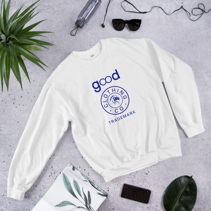 Good Forever Trademark True Blue Unisex Sweatshirt