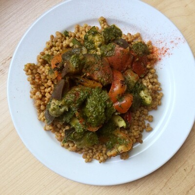 Moroccan Vegetable Grill: Chermoula and Saffron Couscous