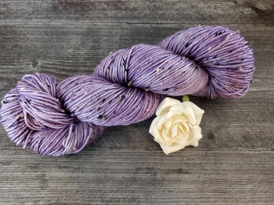 Lilac Tweed Hand Dyed Yarn