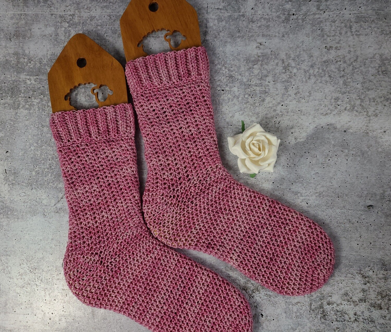 Pretty in Pink Socks Crochet Pattern