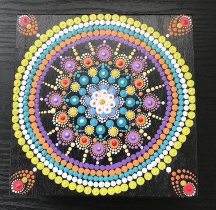 Mandala Art Jewelry Box Medium Multicolored