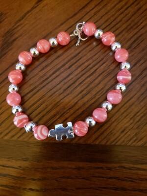 Pink Puzzle Bracelet