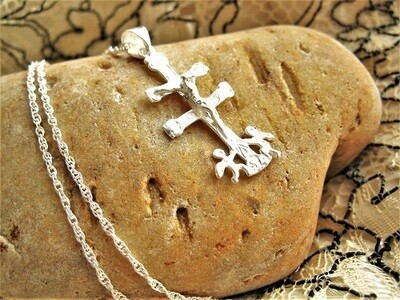 Caravaca crucifix necklace