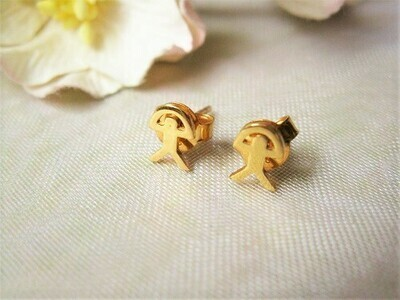 Indalo Man stud earrings ~ gold-filled, classic