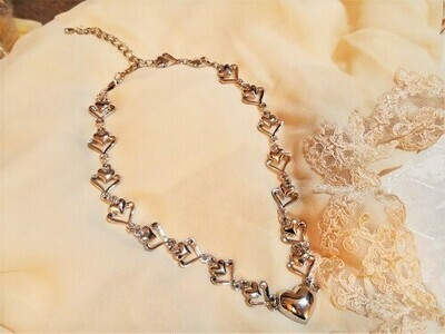 Heart of hearts charm necklace