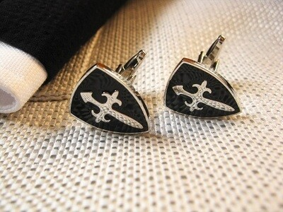 Safe Jewellery - St James cross cufflinks ~ Stay Safe!