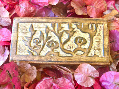 Keepsake box ~ wooden, Indalo, oblong, medium