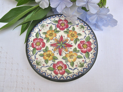 Spanish Wall Plate ~ Vera floral