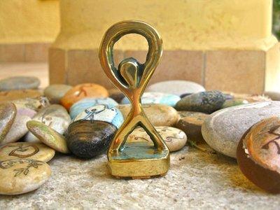 Lucky Indalo statuette ~ bronze, modern
