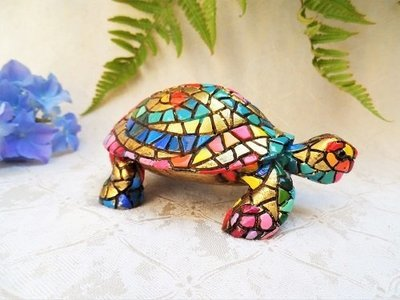 Spanish ceramic Tortoise figurine ~ Dylan