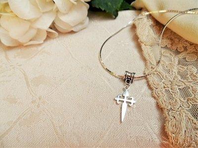 Cruz de Santiago / Cross of St James necklace - silver