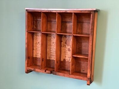 Vintage Wall Shelf, Cash Register Drawer, Vintage Storage
