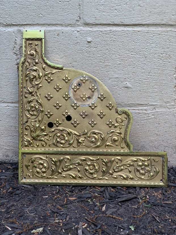 Vintage Brass Decor, Antique Cash Register