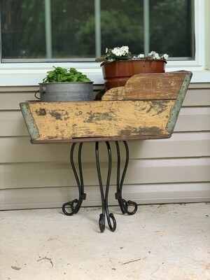 Vintage Plant Stand, Vintage Garden Decor, Chippy Paint