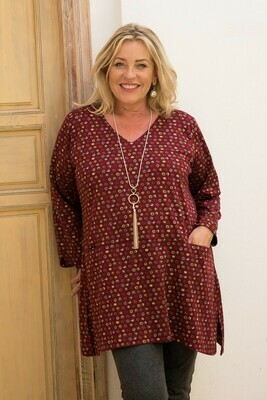Tammy - Knit Jersey Top - Beaujolais