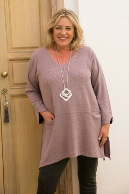 Tyrana - Old Rose Jersey Top
