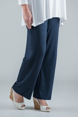 Paige - Navy Jersey Trousers