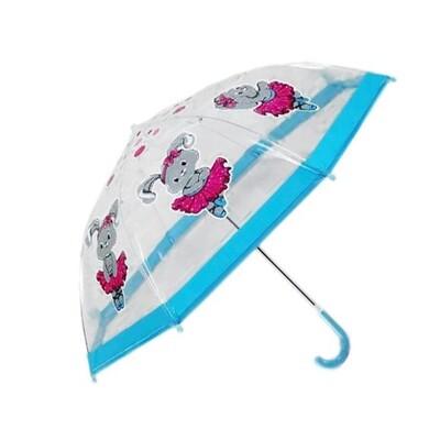 Зонт детский прозрачный Зайка танцует, 46 см. 53584