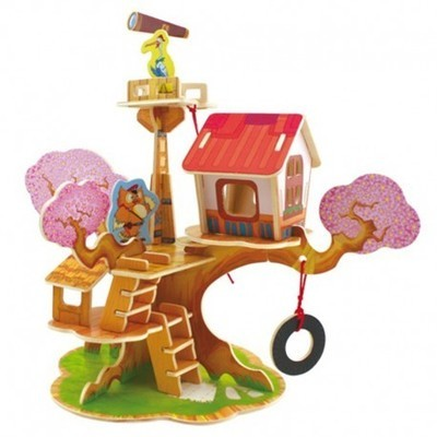 Деревянный 3D пазл Watchtower House 37 деталей ROBOTIME F110