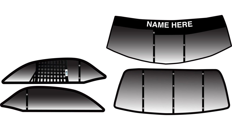 Shark Dodge Challenger HatTrick SC, Custom Window Decals