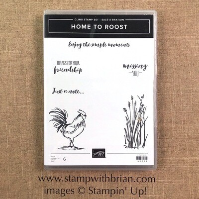 Home to Roost Cling-Mount Stamp Set NEW
