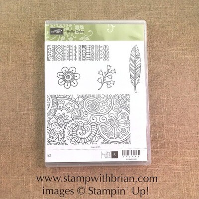 Hello Color Clear-Mount Stamp Set