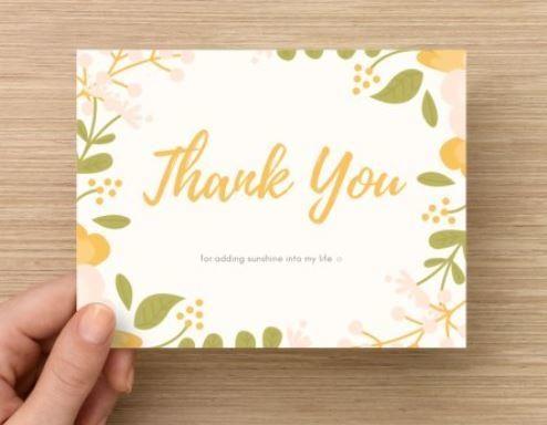 Thank You for Adding Sunshine Card