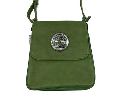 503 New Larger Zip Around olive green