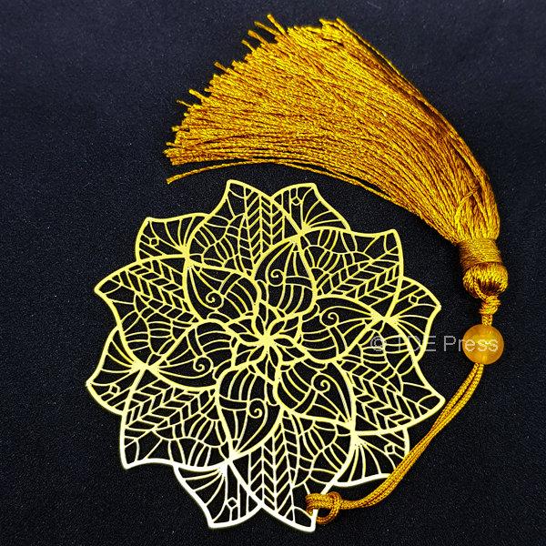 Golden Lotus Bookmark 4