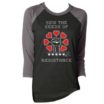 Sew The Seeds Of Resistance - Unisex Baseball Tee
