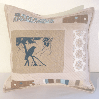 Quilted Crow Pillow Cover No.1