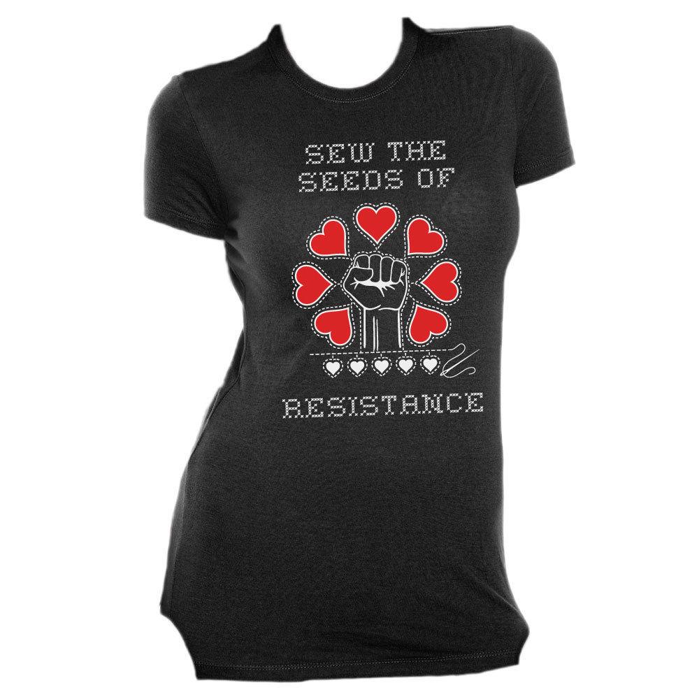 Sew The Seeds of Resistance - Slim Fit Tee Black