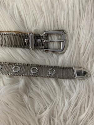 Silver Mesh Belt