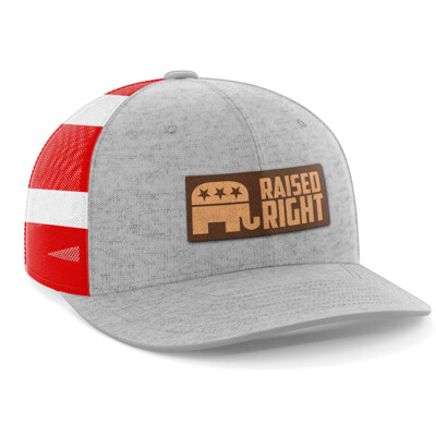 Hat - Leather Patch: Raised Right