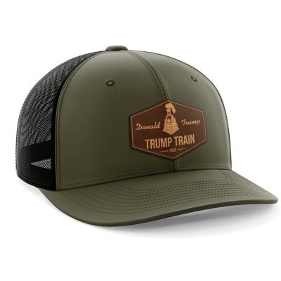 Hat - Leather Patch: Trump Train