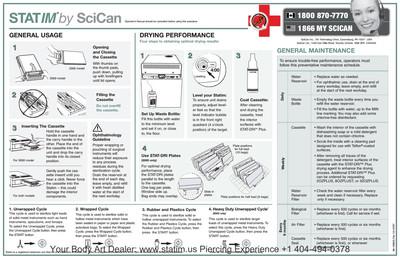 Quick Reference Poster Maintenance STATIM 2000 & 5000