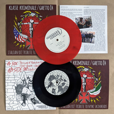 Klasse Kriminale / Ghetto 84 - Italian Oi! Tribute To NYHC Skinheads - Split 7