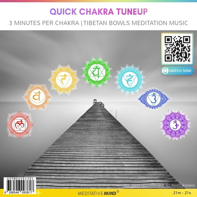 Quick Chakra Tuneup - 3 Minutes Per Chakra | Tibetan Bowls Meditation music