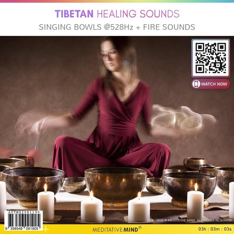 Tibetan Healing Sounds - Singing Bowls @ 528Hz + Fire Sounds