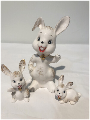 Set Of Three Vintage Bunnies