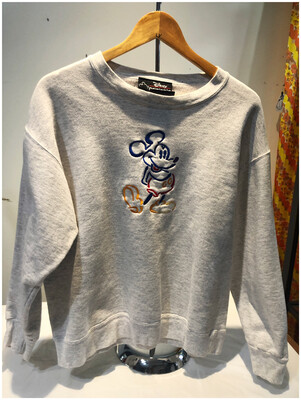 Vintage Embroidered Mickey Mouse Sweatshirt