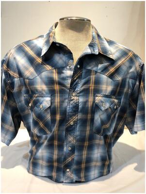 Vintage Men's Wrangler Western Short Sleeve Shirt