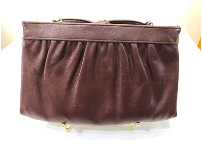 Vintage Oxblood Leather Handbag