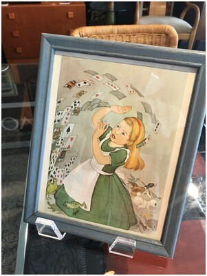 Framed Alice in Wonderland and The Pack of Playing Cards