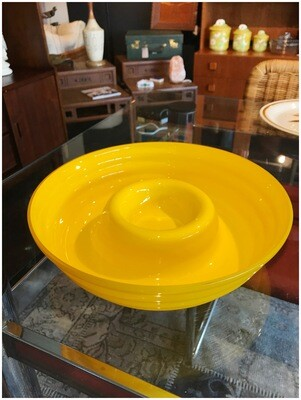 Mid Century Glass Chip n Dip Bowl
