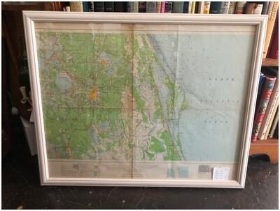 1962 Orlando & Central Florida Framed Map