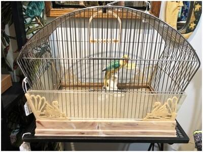 Vintage Birdcage with Accessories